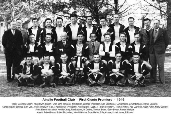 1946- Ainslie First Grade Premiership Team