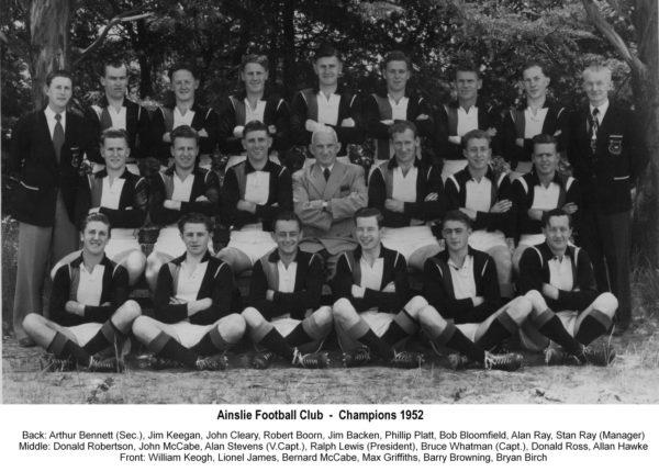 1952-Ainslie Championship Team