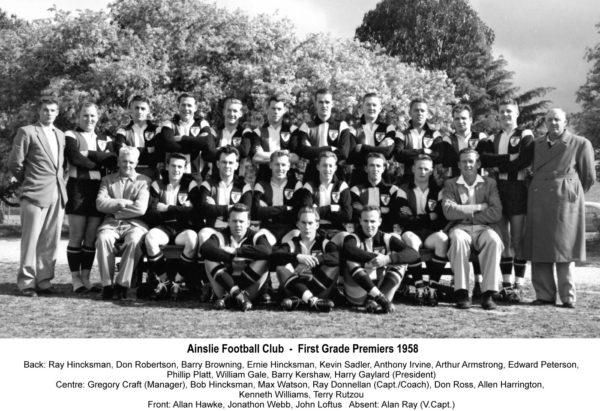 1958-Ainslie First Grade Premiership Team
