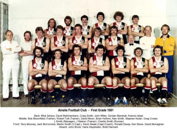 1981-Ainslie First Grade Team