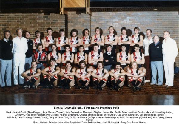1983-Ainslie First Grade Premiership Team