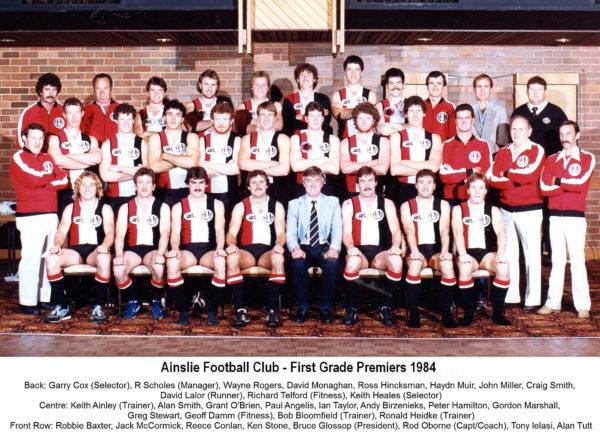 1984-Ainslie First Grade Premiership Team