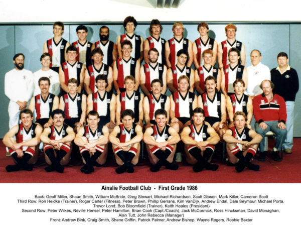 1986-Ainslie First Grade Team