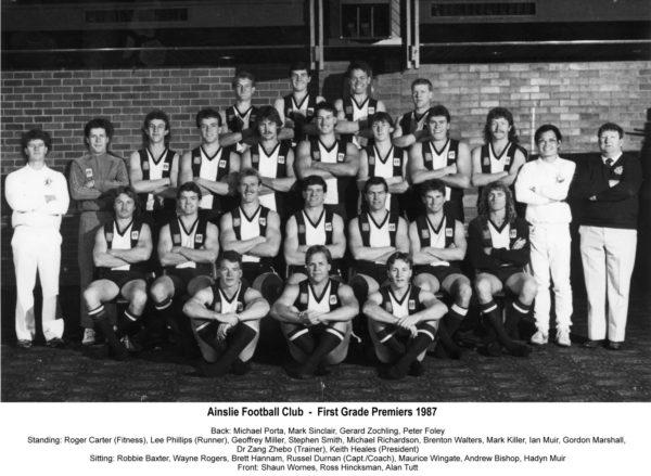 1987-Ainslie First Grade Premiership Team