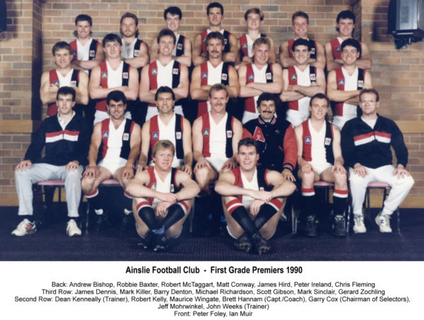 1990-Ainslie First Grade Premiership Team