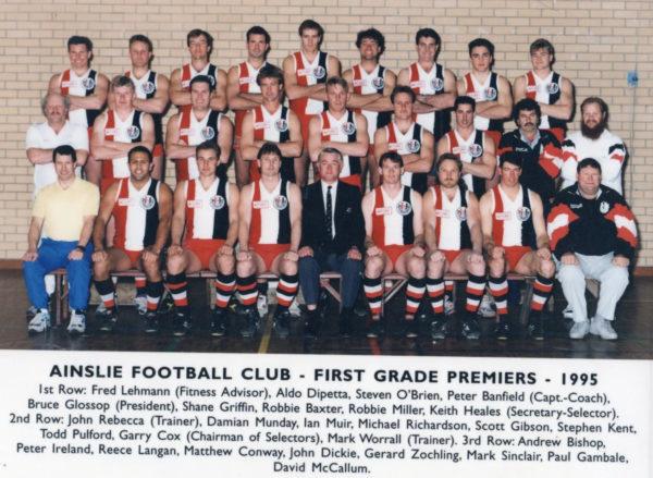 1995-Ainslie First Grade Premiership Team