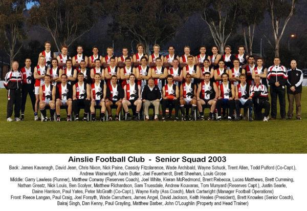 2003-Ainslie Senior Squad