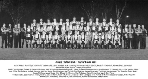 2004-Ainslie Senior Squad