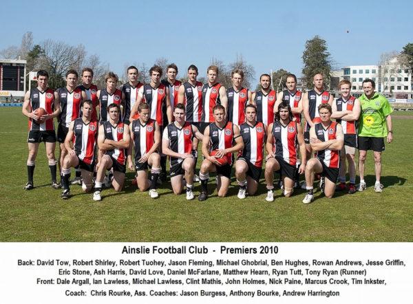 2010-AFL Canberra Premiership Team