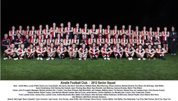 2012 - Ainslie NEAFL Squad