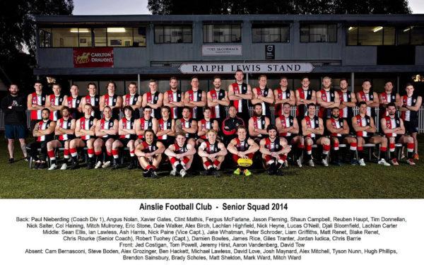 2014 - Ainslie Senior Squad