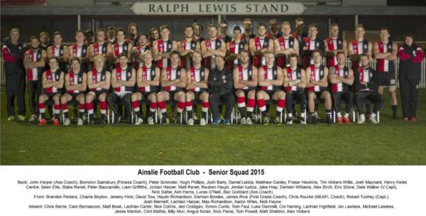 2015 - Ainslie NEAFL and First Grade Squad