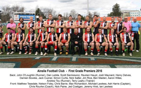 2016 - Ainslie First Grade Premiership Team